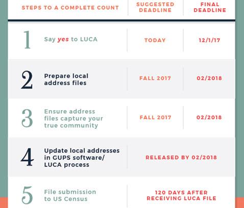 LUCA Steps & Deadlines